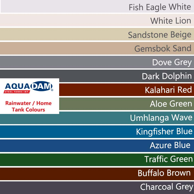 Steel Water Home Tank Colours